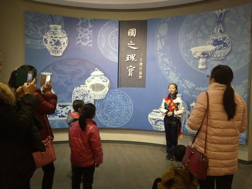 高安市第七小学组织学生到元青花博物馆义务讲解 -宜春共青团图片